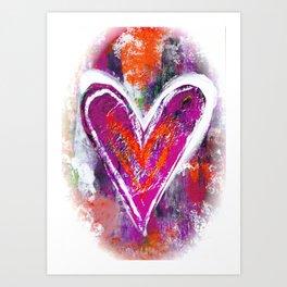 HEARTS OF PURPLE Art Print