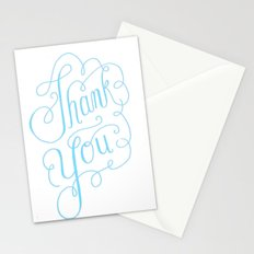 Thank you Hand Lettered Calligraphy Stationery Cards