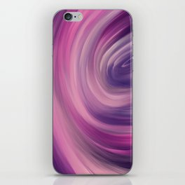 violate and blue colorful mix abstract iPhone Skin