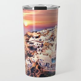 Santorini Sunset View Travel Mug