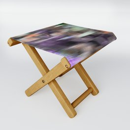 Fast in Flight - A Colorful Abstract Motion Blur Folding Stool