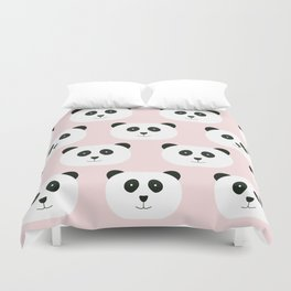 Panda Love -Pink Duvet Cover