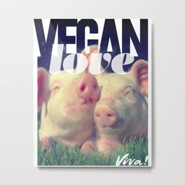 Vegan Love Metal Print