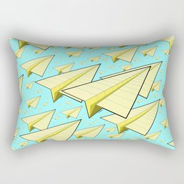Paper Airplane 10 Rectangular Pillow