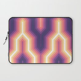 Retro Chevron Glow Laptop Sleeve
