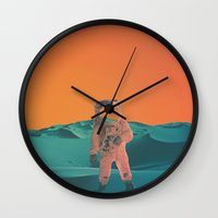 houston Wall Clocks featuring Houston Whats Your Problem? by @slimesunday