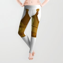 Royal Shining Golden Crown for King or Queen Leggings