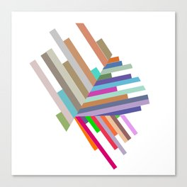 lines with triangles Canvas Print