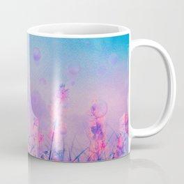 Spring Purple Dream (Neon Pink Wildflowers, Indigo Sky) Coffee Mug