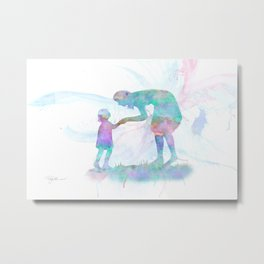 10839 Mom and Me Metal Print
