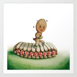 Running Biscuit Art Print