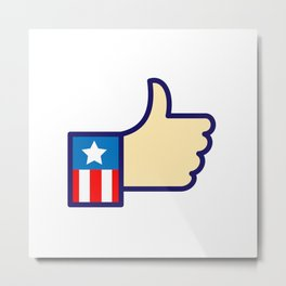 American Hand Thumbs Up Icon Metal Print