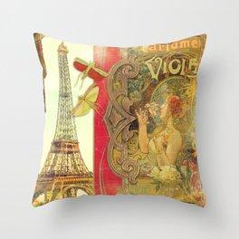 The Crickets of Paris Throw Pillow