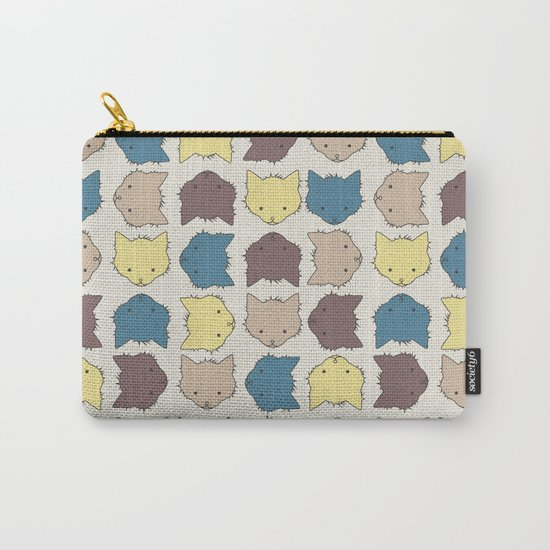 Pastel cat faces Carry-All Pouch
