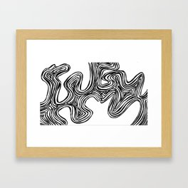 let go. Framed Art Print