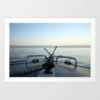 Boating Away Art Print