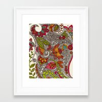random Framed Art Prints featuring Random Flowers by Valentina Harper