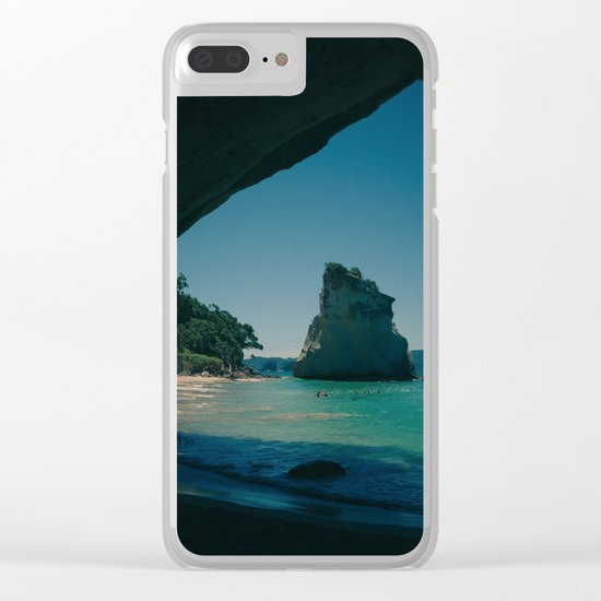 Paradise Island 4 Clear iPhone Case