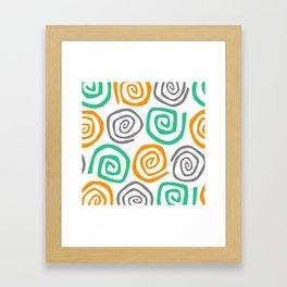 Snail Party Framed Art Print