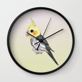 Very cute cockatiel Wall Clock
