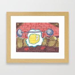 Healthy Fried Egg Framed Art Print