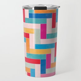 Summer Chevron Travel Mug
