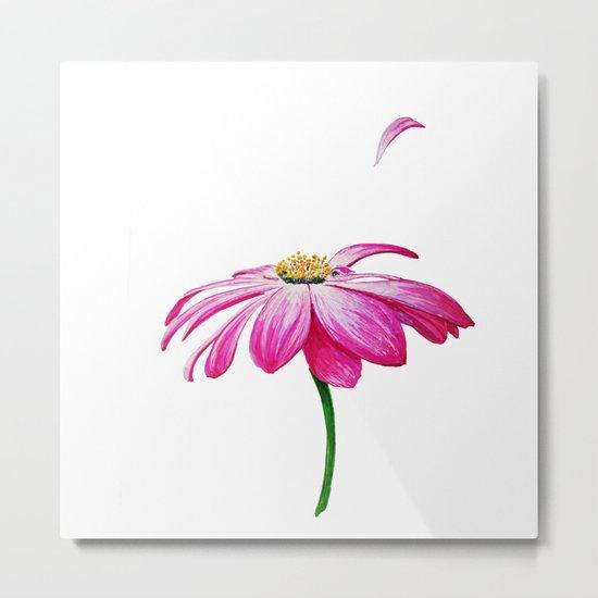 crimson flower petal and flown away Metal Print