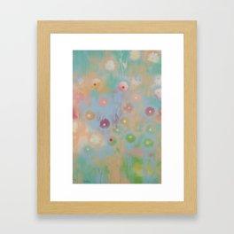 Pastel Daisies Framed Art Print