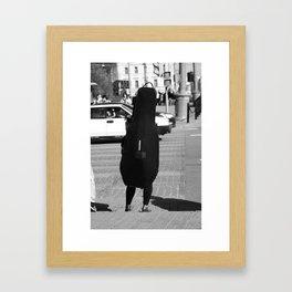 Person Double Bass Framed Art Print