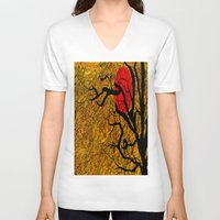 twilight V-neck T-shirts featuring TWILIGHT by aztosaha