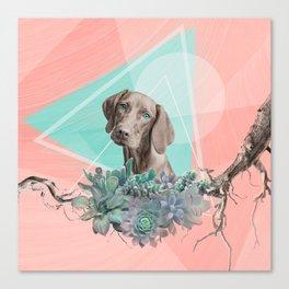 Eclectic Geometric Redbone Coonhound Dog Canvas Print