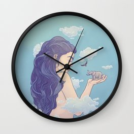Gigantic Lady Wall Clock