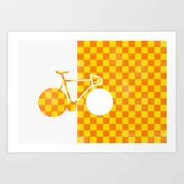 Bike Pattern 2  Art Print