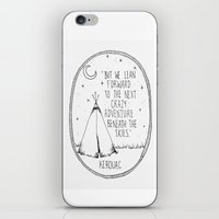 kerouac iPhone & iPod Skins featuring Kerouac Teepee by Narts and Crafts