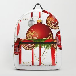 RED DECORATIVE HANGING CHRISTMAS ORNAMENTS Backpack