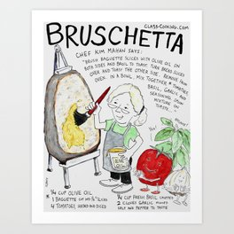 Brush Etta Art Print