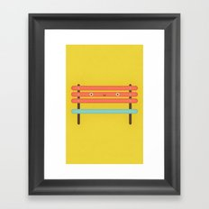 Bench Chair Framed Art Print