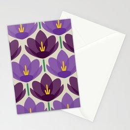 Crocus Flower Stationery Cards
