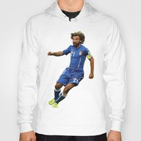pirlo Hoodies featuring World Cup - Italy - Andrea Pirlo by DanielHonick
