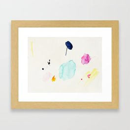 Immeasurable Joy - abstract painting by Jen Sievers Framed Art Print