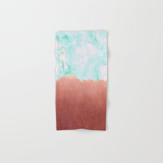 Sea Green + Copper #society6 #decor #buyart Hand & Bath Towel