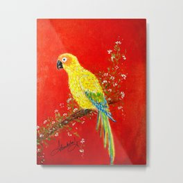 Macaw bird Metal Print