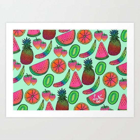 I ♥ Fruits Art Print