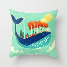 :::Tall Tree Whale::: Throw Pillow