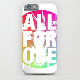 ALL FOR ONE iPhone Case