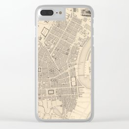 Vintage Map of Belfast Ireland (1851) Clear iPhone Case