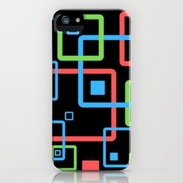 multicolor geometric squares iPhone Case