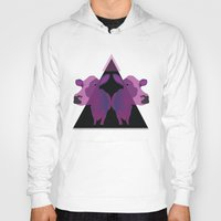cows Hoodies featuring Psychadelic cows by Lisa Hamberg
