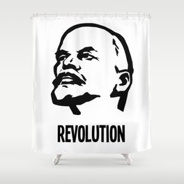 Lenin Revolution Shower Curtain