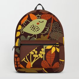 Afro Diva : Sophisticated Lady Retro Brown Backpack